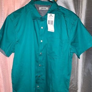 New Kenneth Cole Reaction Short Sleeve Button Down
